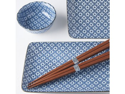 Sushi set Geometric Flowers 6 ks