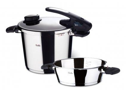 Sada tlakového hrnce 6 l a panvice 2,5 l Fissler Vitavit® design edition