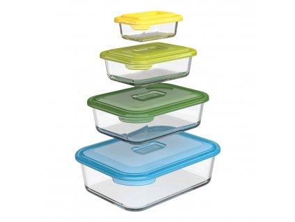 Kompaktná súprava sklenených nádob s viečkami Nest™ Glass Storage Joseph Joseph