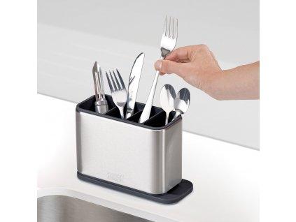 Odkvapkávací stojan na príbory, nože a náčinie z nehrdzavejúcej ocele Surface™