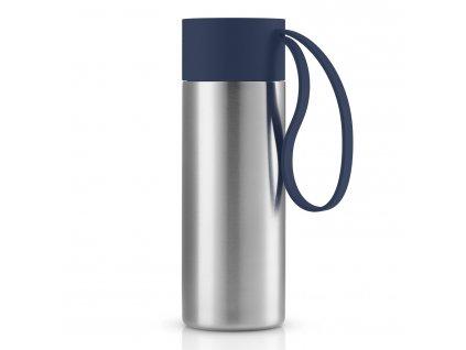 Termohrnček To Go z nehrdzavejúcej ocele s modrým uzáverom 0,35 l