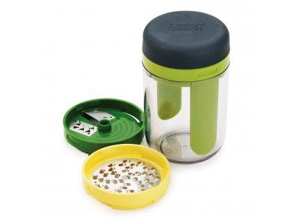 Ručný špiralizér s nádobou a výmennými reznými hranami Spiro™