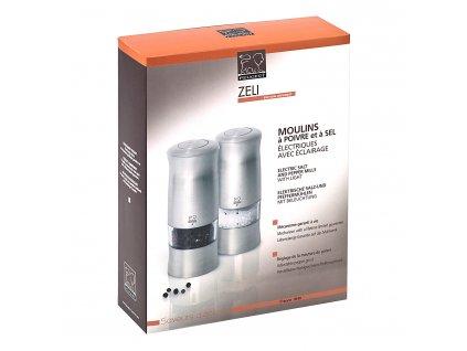 Darčeková súprava elektrických mlynčekov na korenie a soľ ZELI Peugeot