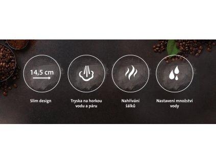 Pákový kávovar Espresso ETA Storio béžový