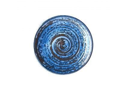 Plytký tanier Copper Swirl 25 cm