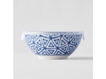 Miska Triangle Indigo Ikat s plastovým vekom 16 cm 700 ml