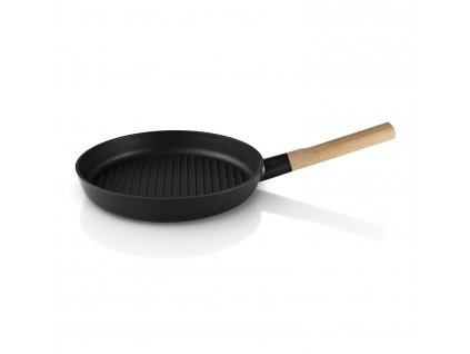 Grilovacia panvica s drevenou rukoväťou Nordic kitchen Ø 28 cm