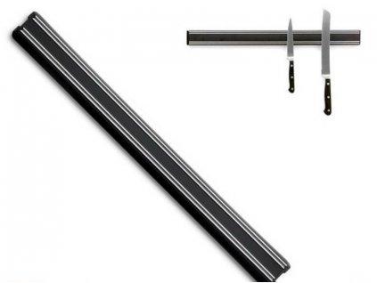 Magnetická lišta na nože 35 cm čierna