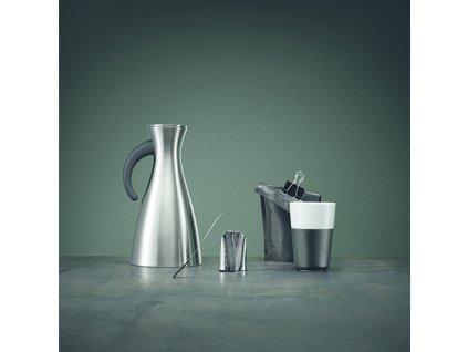 Termohrnčeky na café latte 360 ml 2 kusy karbónovo čierne