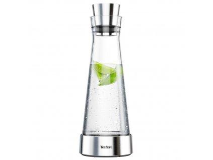 Karafa na vodu Flow Slim Tefal 1 l nerez/sklo