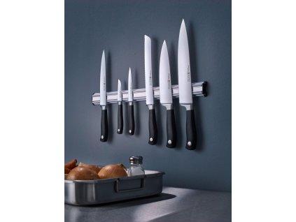 Magnetická lišta na nože 35 cm strieborná