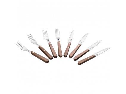 Set steakových príborov LT2062 Walnut Lamart 8 ks