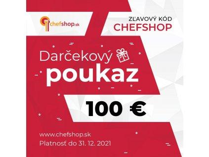Darčekový poukaz v hodnote 100 €