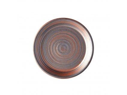 Plytký tanier s vysokým okrajom Recycled Smoke Glate 27,5 cm