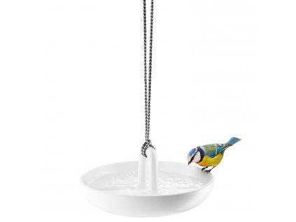 Závesné napájadlo/kŕmidlo pre vtáčiky biele Eva Solo