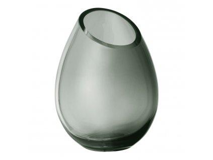 Váza 16,5 cm DROP dymové sklo