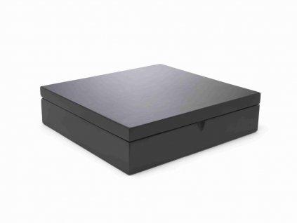 Krabička na čaj Bredemeijer čierna 12 priehradok