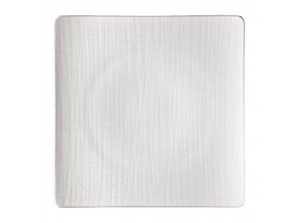Hranatý plytký tanier Mesh Rosenthal biely 31 cm