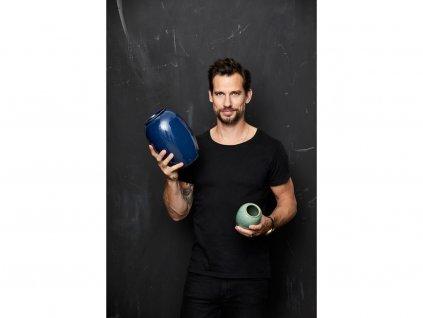 Váza Bitz modrá 25 cm
