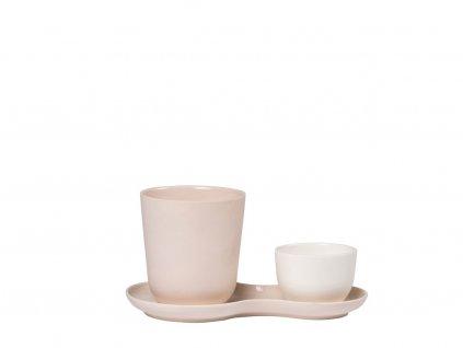 Servírovacia porcelánová sada Coffee & Sweets Roseberry Nudge