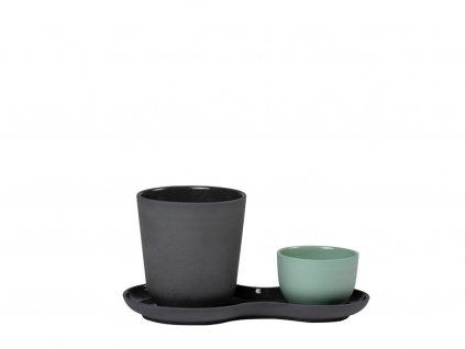 Servírovacia porcelánová sada Coffee & Sweets Kale Nudge