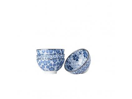 Set misiek Blue Plum & Cherry Blossom Design modrá 4 ks MIJ