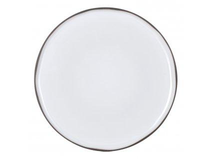 Servírovací tanier okrúhly biely White Cumulus CARACTERE REVOL