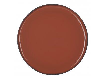 Servírovací tanier okrúhly škoricový Cinnamon CARACTERE REVOL