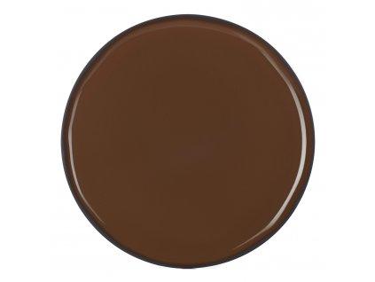 Servírovací tanier okrúhly hnedý Tonka CARACTERE REVOL