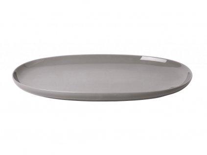 Servírovací oválny tanier RO Blomus veľký hrejivo šedý