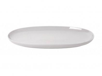 Servírovací oválny tanier RO Blomus veľký svetlošedý