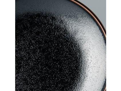 Okrúhly plytký tanier Tenmokku 25 cm MIJ
