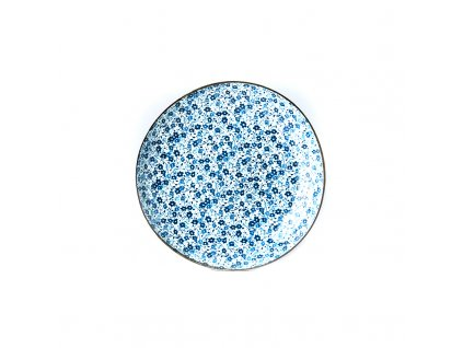 Guľatý tanier Blue Daisy 23 cm