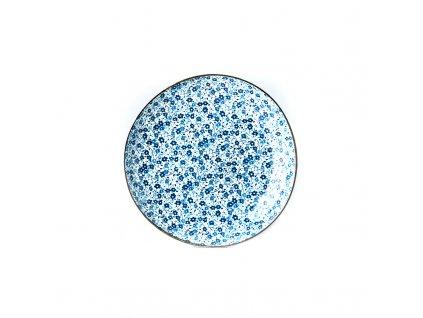 Plytký tanier Blue Daisy 23 cm