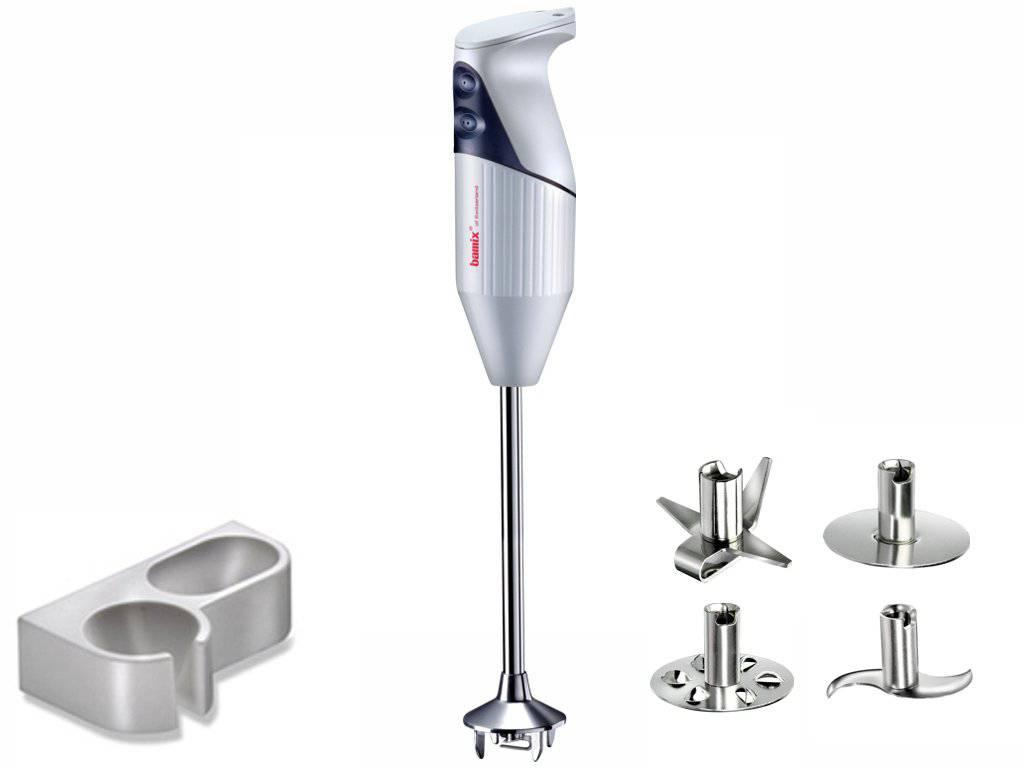 Ručný tyčový Mixér Profi GASTRO bielošedý 350 W - Bamix (Ručný ponorný mixér Profi GASTRO 350 W bielošedý - Bamix)