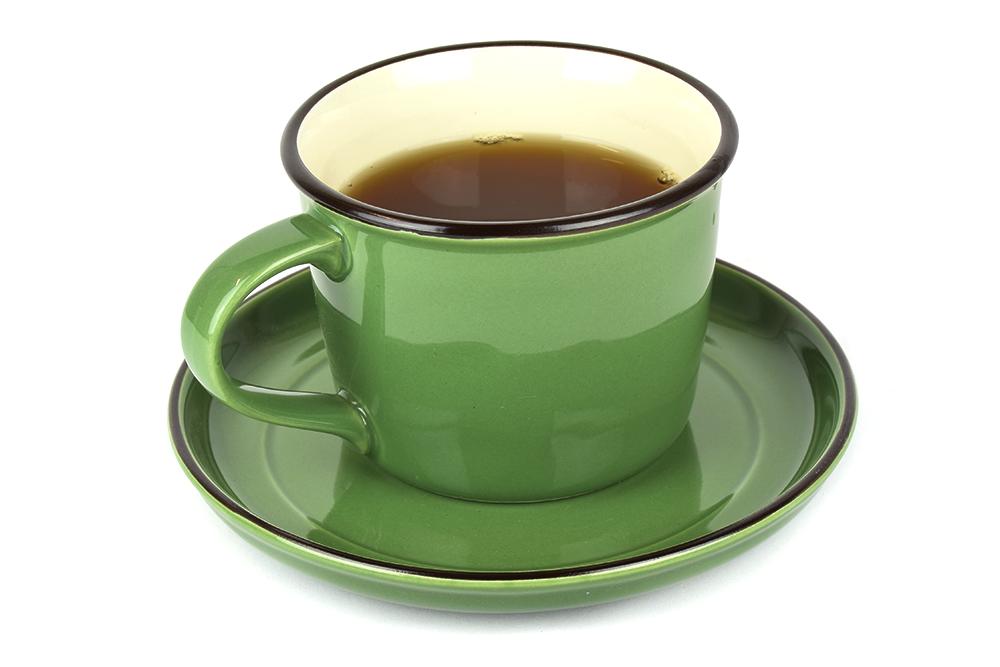 Colourblock keramický hrnček zelený široký 300 ml