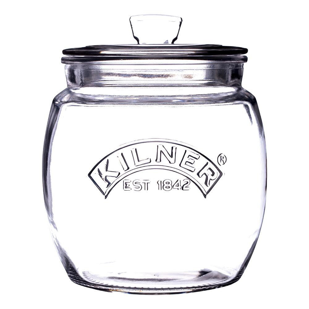 Dóza na suché potraviny 0,85 l Kilner (Fara čire sklo)