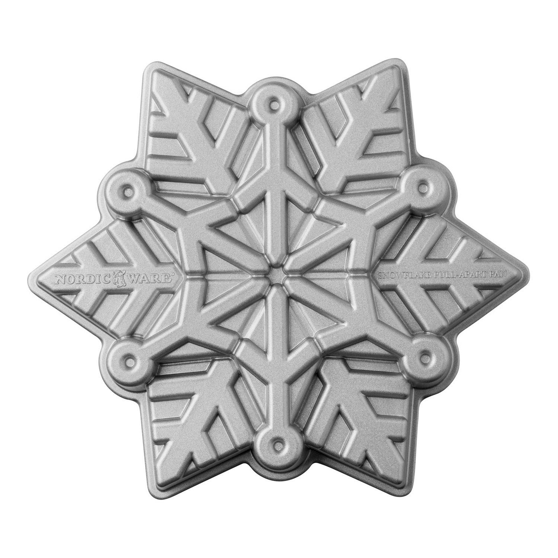 Forma na koláč Frozen Snowflake Bundt® strieborná