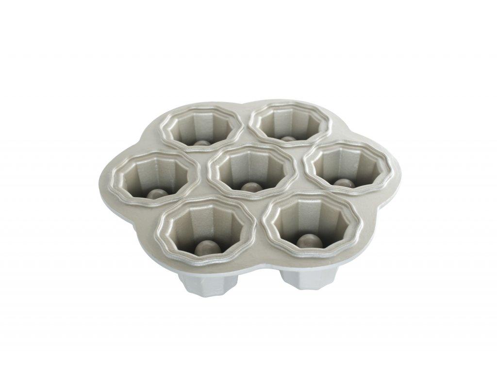 Forma na 7 plnených sušienok Bundt Nordic Ware strieborná