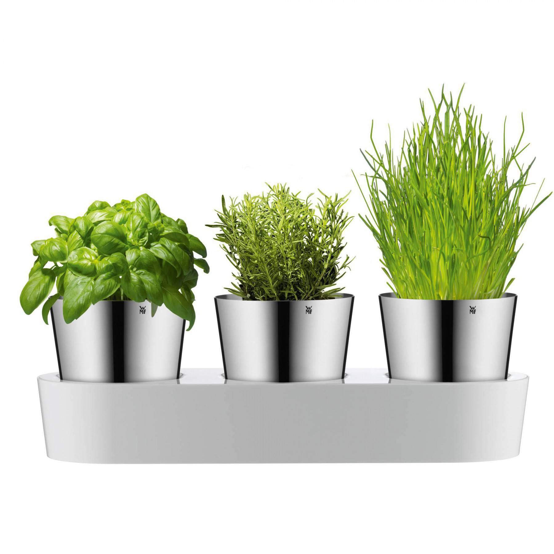 WMF Bylinková záhradka - 3 samozavlažovacie kvetináče Gourmet