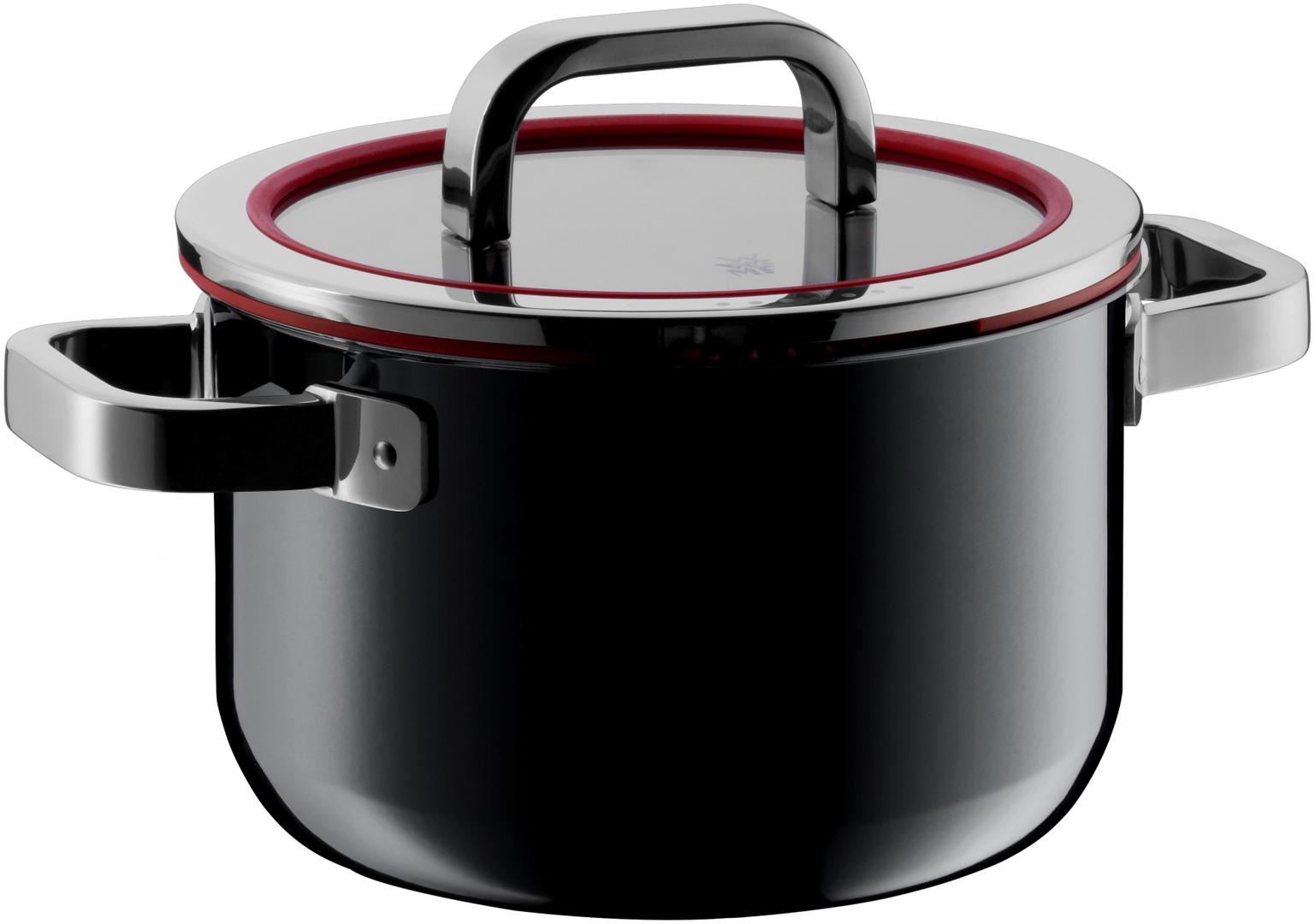 Vysoký hrniec FUSIONTEC Functional WMF čierny 20 cm 3,7 l
