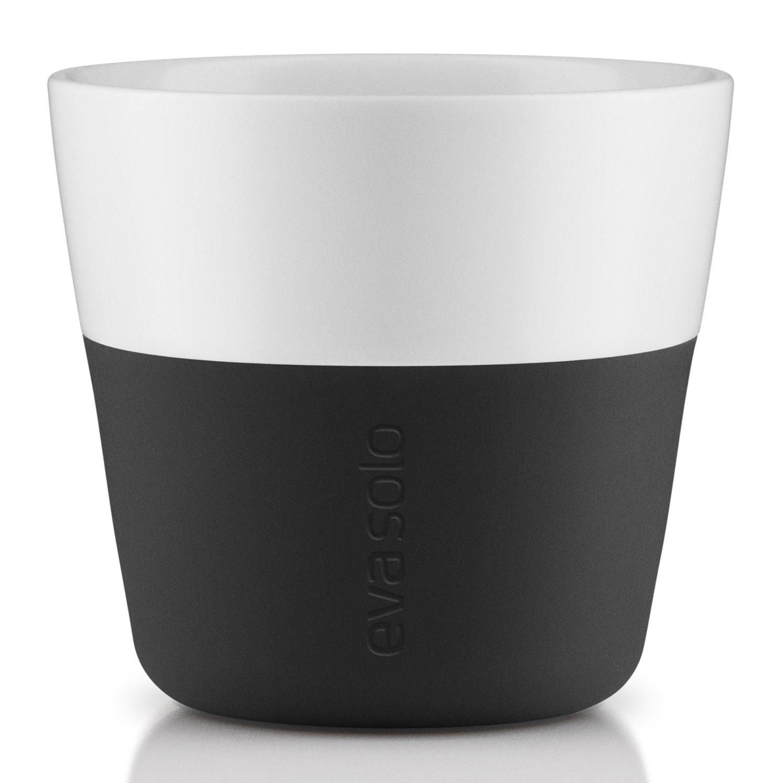 Termohrnčeky na kávu Lungo 230 ml 2 kusy karbónovo čierne