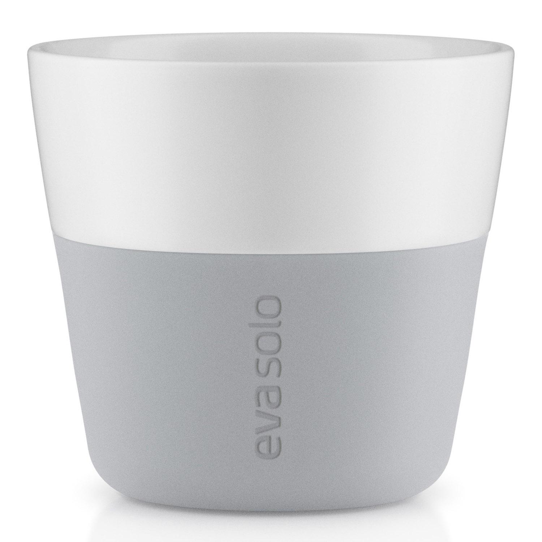Termohrnčeky na kávu Lungo 230 ml 2 kusy svetlosivé