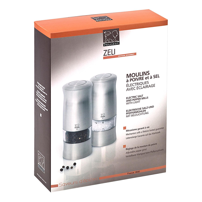 Darčeková súprava elektrických mlynčekov na korenie a soľ ZELI