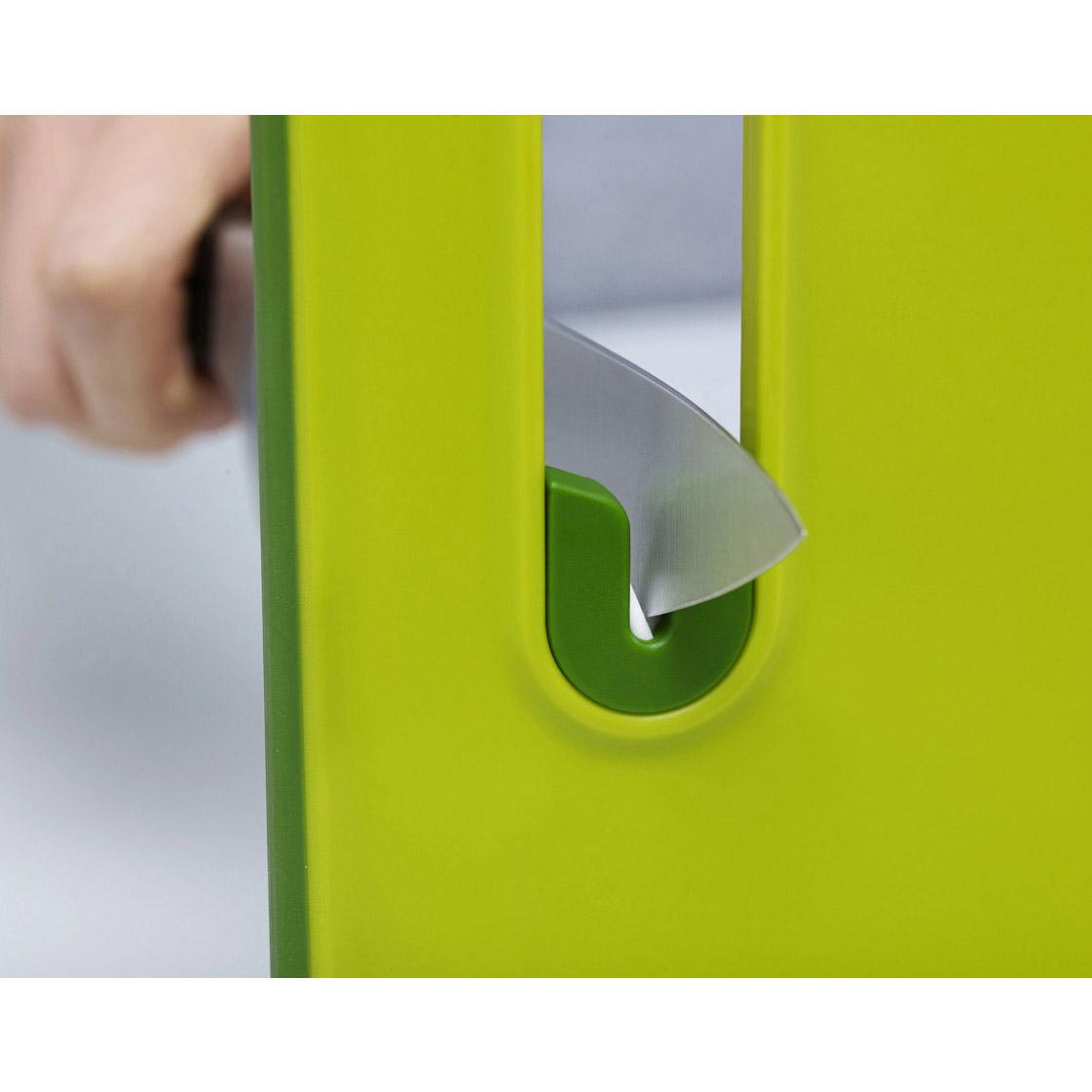 Doska na krájanie s brúskou veľká zelená Slice&Sharpen™