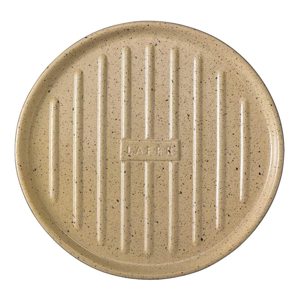 Grilovací plát BBQ okrúhly s vlnitým dnom béžový ®