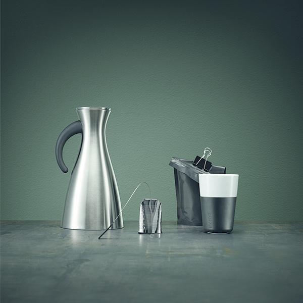Termohrnčeky na café latte 360 ml 2 kusy karbónovo čierne Eva Solo