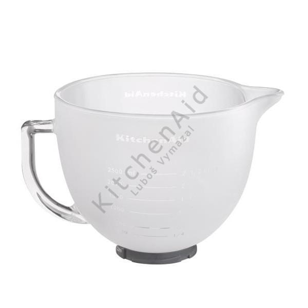 Sklenená misa KitchenAid 5K5GBF matná 4,83 l