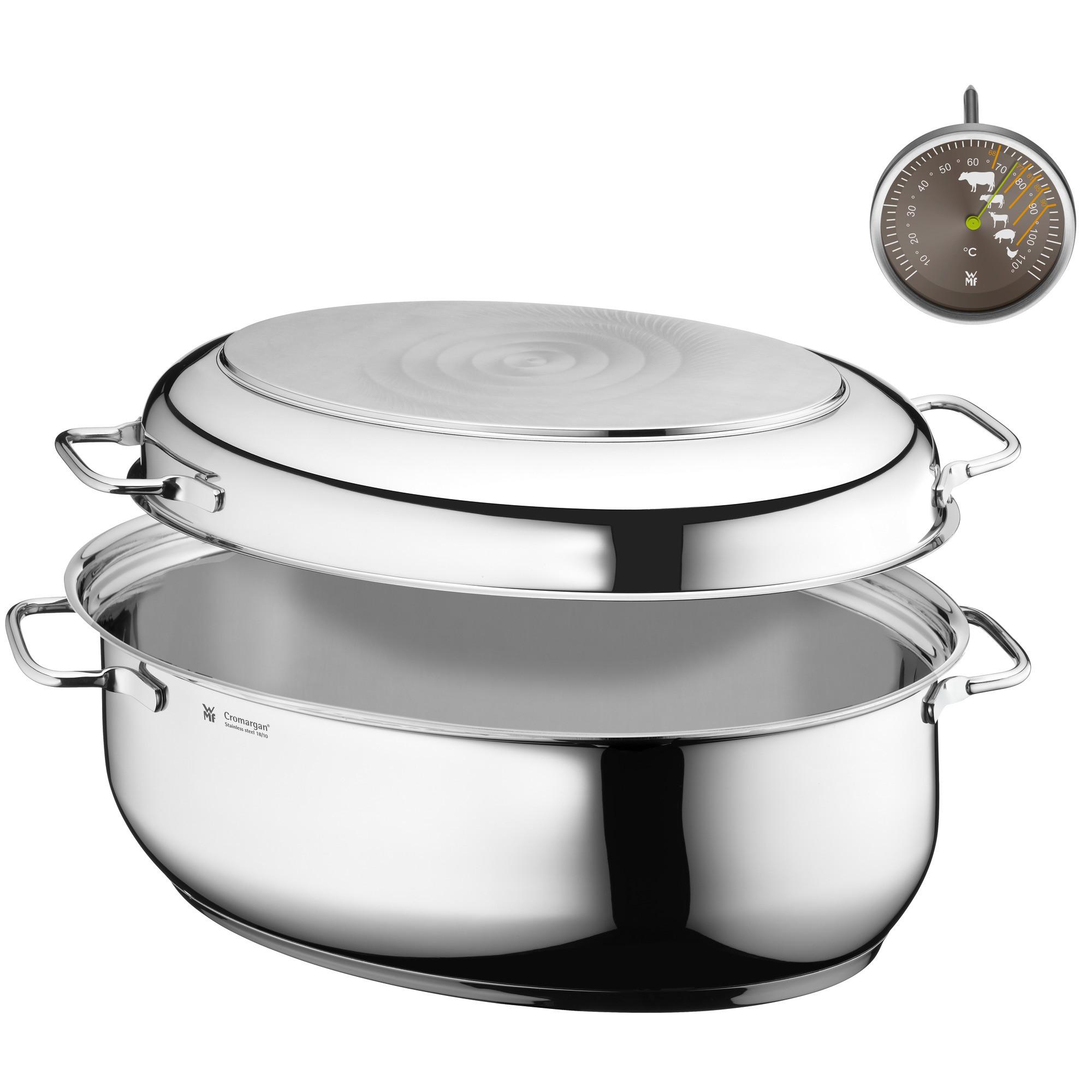 Pekáč s pokrievkou/panvicou oválny WMF 8,5 l  + kuchynský teplomer