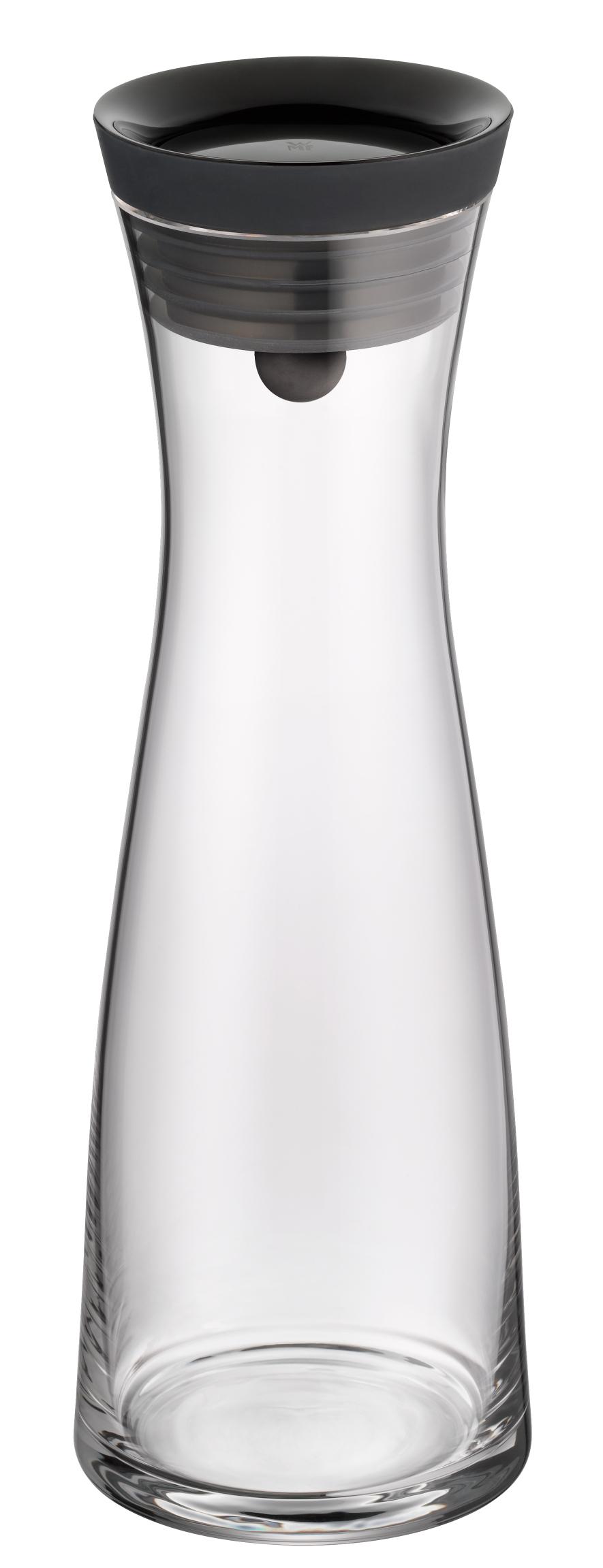 Karafa na vodu s čiernym viečkom Basic 1,0 l